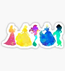 Prinzessinnen inspiriert Silhouette Sticker