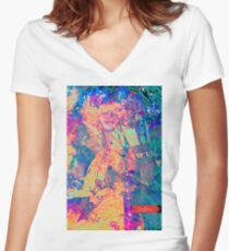 Love&Haight, Maiden of San Francisco in noon bloom  Women's Fitted V-Neck T-Shirt
