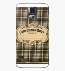 Vintage Checked Composition Notebook Cover Case/Skin for Samsung Galaxy