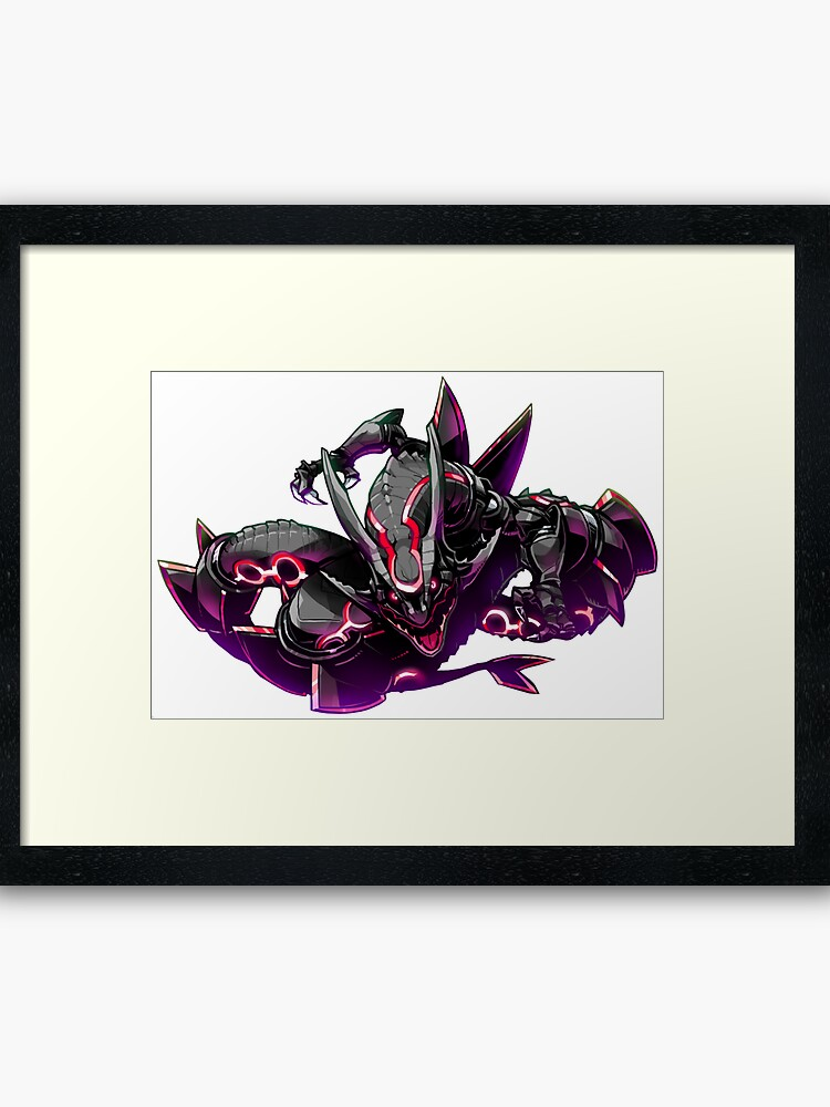 Pokemon : Shiny Rayquaza FanArt | Framed Art Print
