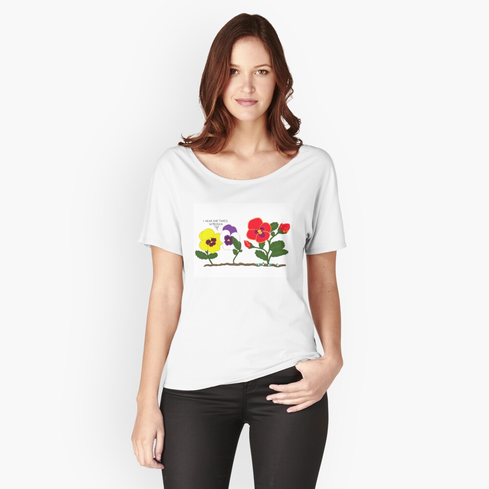 Pansy Politics Women's Relaxed Fit T-Shirt Front
