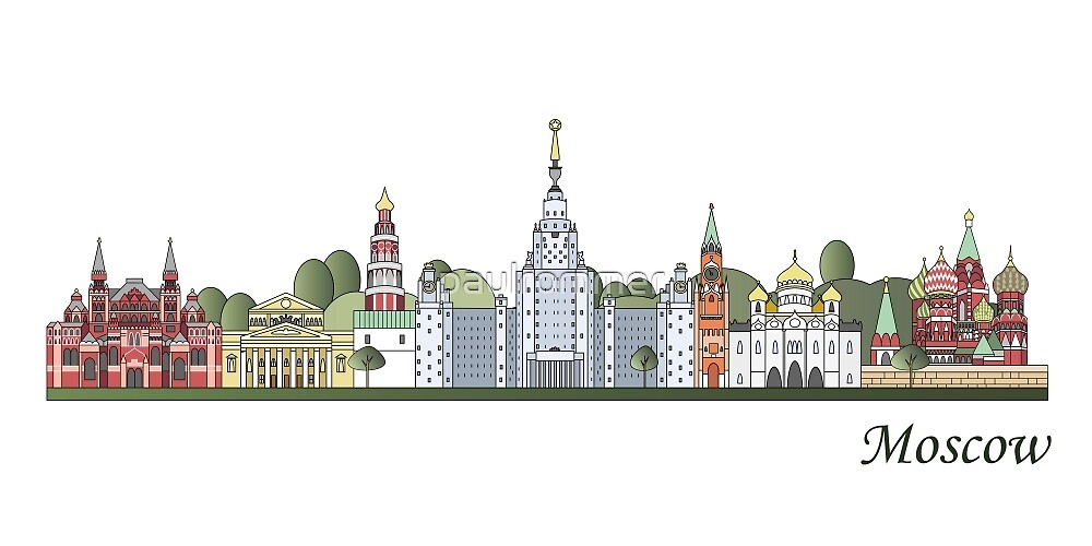 Moscow skyline colored by paulrommer