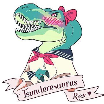 Tsunderesaurus Rex by daisyspiers