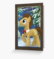 A Dr Whooves Christmas Greeting Card