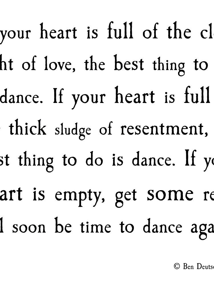 Zeit zum Tanzen von bendeutsch