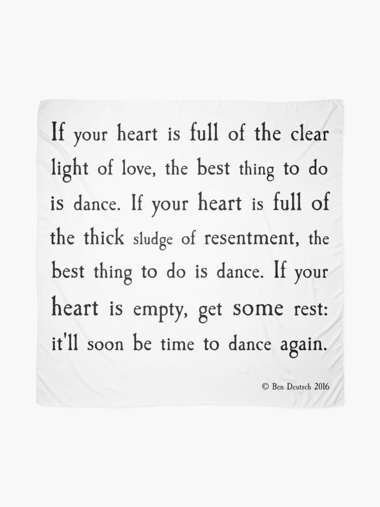 Alternative Ansicht von Zeit zum Tanzen Tuch