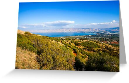 Galilee landscape, Overlooking the sea of Galilee  by PhotoStock-Isra