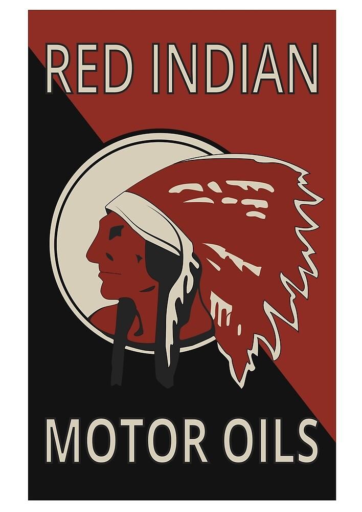 Red Indian Motor Oils by BeardWizard