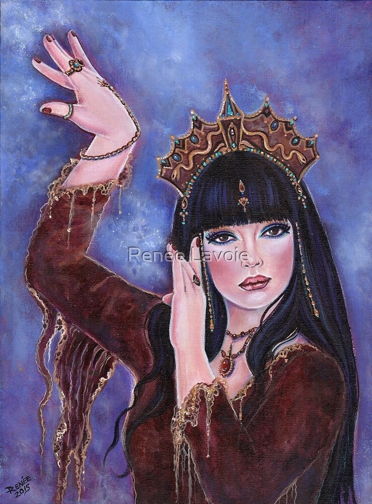 Dance Macabre egyptian woman fantasy art by Renee Lavoie by Renee Lavoie