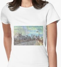Stone Arch Bridge Women's Fitted T-Shirt