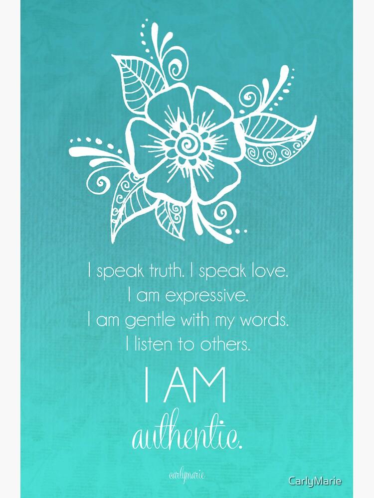 Throat Chakra Affirmation | Canvas Print