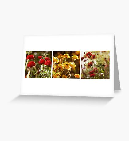 Flowers in Spring ~ A Triptych Greeting Card