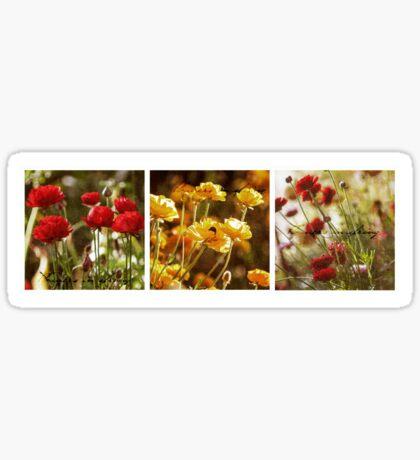 Flowers in Spring ~ A Triptych Sticker