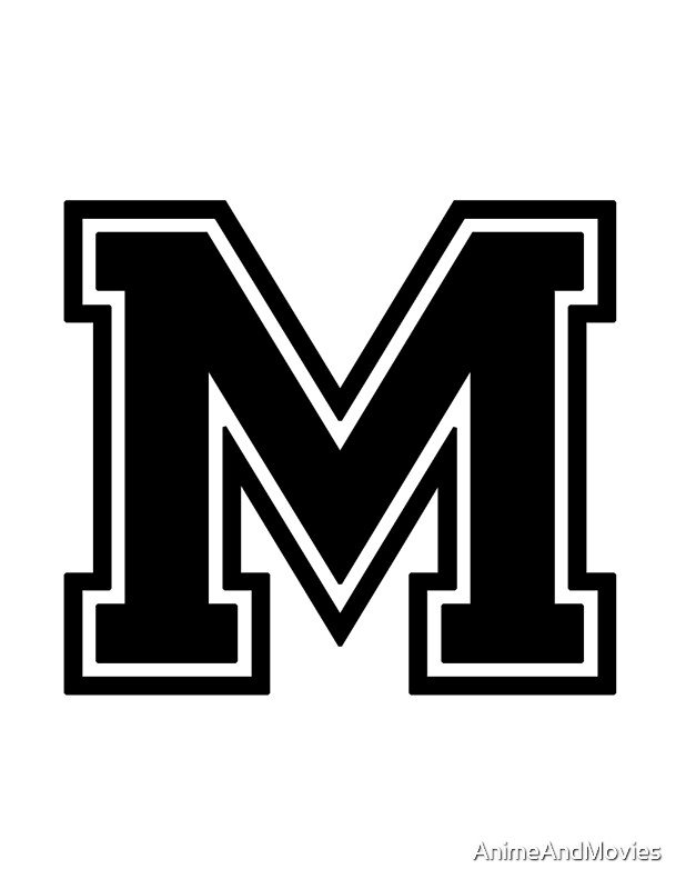 Large Letter M Wall Decor