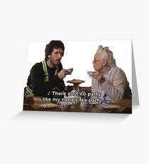 Flight of the Conchords - Tea Party Greeting Card