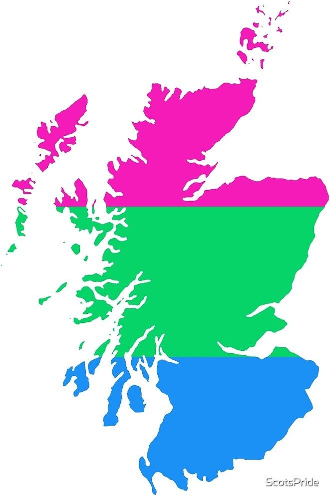 Polysexual Pride Map of Scotland by ScotsPride