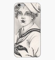 Sailor Girl & Spider print iPhone Case