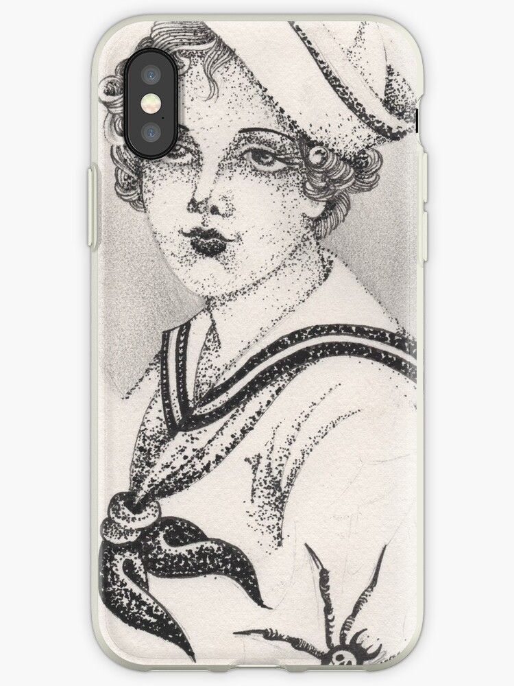 Sailor Girl & Spider print by Wally Tattoo & Art
