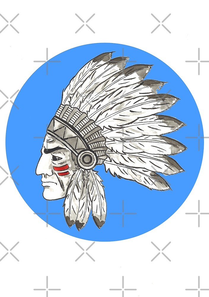 Indian Chief by Calum Margetts Illustration