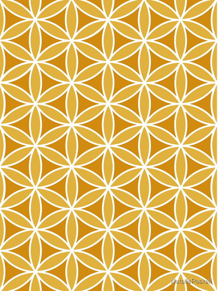 Flower of Life Pattern Oranges & White by NataliePaskell