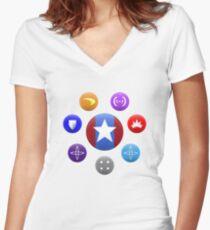 Heroic Archetypes v1 Women's Fitted V-Neck T-Shirt