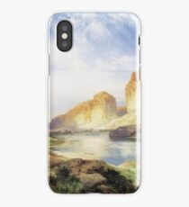 Thomas Moran - Green River, Wyoming. Mountains landscape: mountains, rocks, rocky nature, sky and clouds, trees, peak, forest, Canyon, hill, travel, hillside iPhone Case/Skin