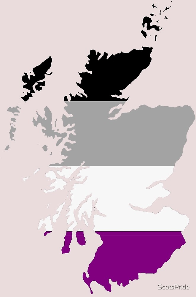Asexual Pride Map of Scotland by ScotsPride
