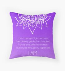 Crown Chakra Affirmation Throw Pillow