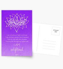 Crown Chakra Affirmation Postcards