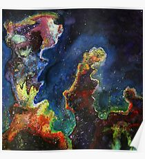 Pillars of Creation Painting Poster