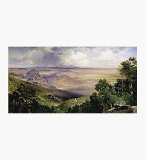 Thomas Moran - Valley Of Cuernavaca 1903. Mountains landscape: mountains, rocks, rocky nature, sky and clouds, trees, peak, forest, rustic, hill, travel, hillside Photographic Print