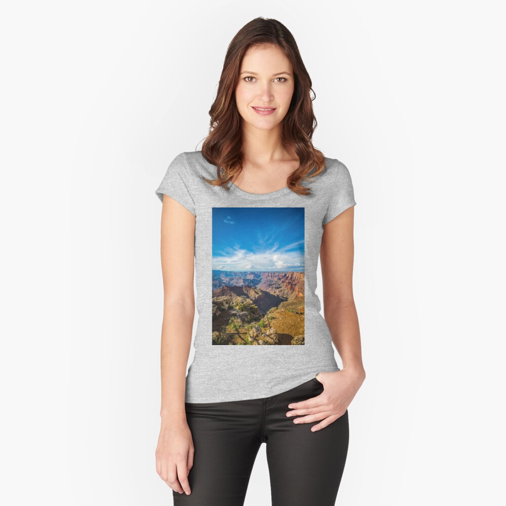 Grand Canyon - Navajo Point View Colorado River Women's Fitted Scoop T-Shirt Front