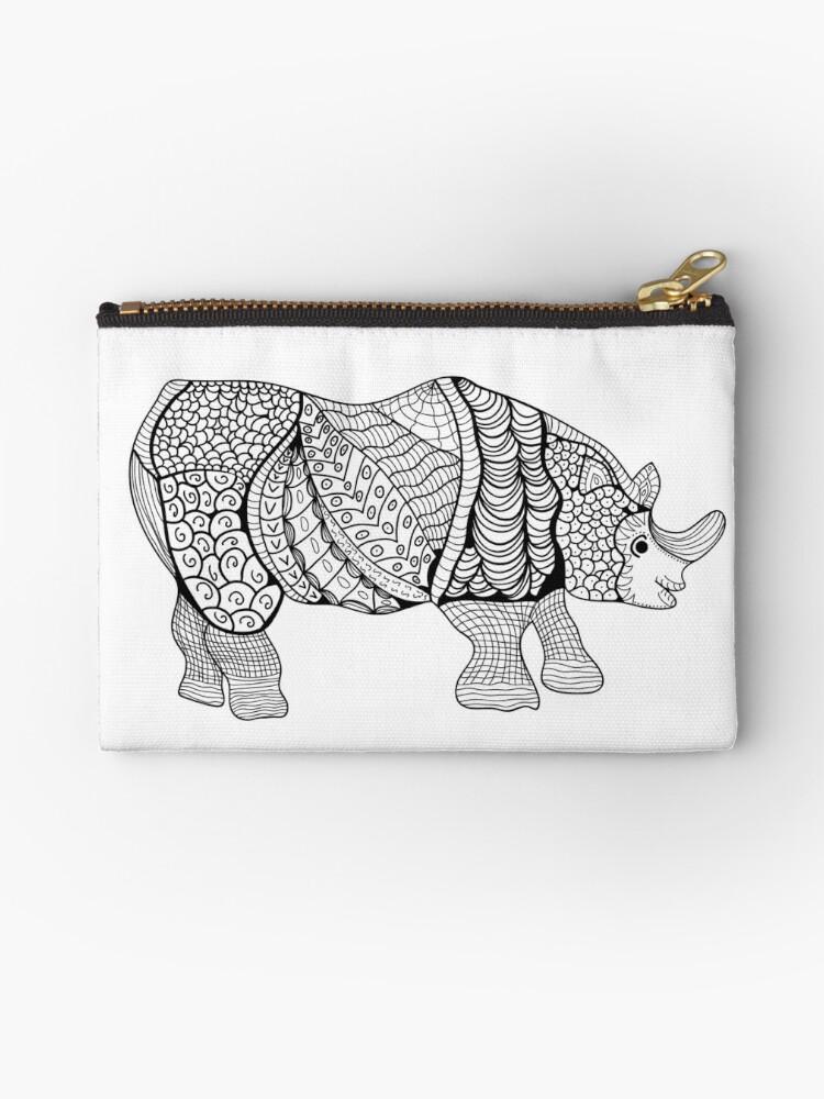 Bolsos de mano «Rinoceronte. Rhino dibujado a mano con el patrón ...