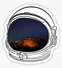 Camping on the Moon Sticker