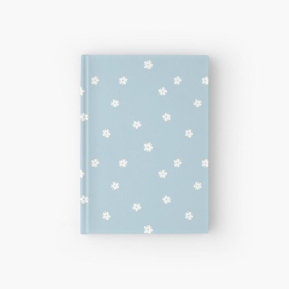 Elderflowers on baby blue, sparse Hardcover Journal
