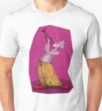 clown trompetist on magenta T-Shirt