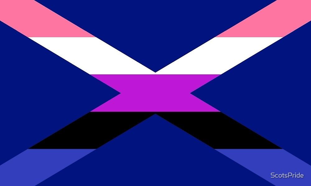 Scottish Genderfluid Pride Saltire by ScotsPride