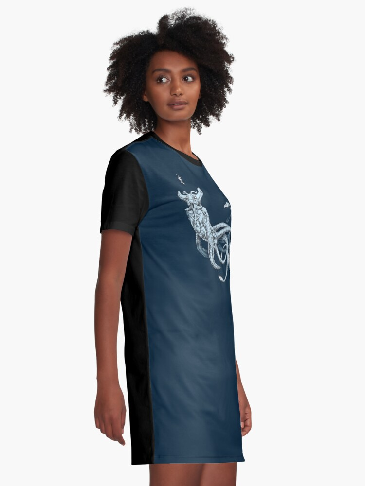 Alternate view of Sea Emperor Transparent Graphic T-Shirt Dress