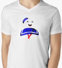 Marshmallow Man Mens V-Neck T-Shirt