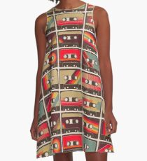 Mixed Tapes A-Line Dress