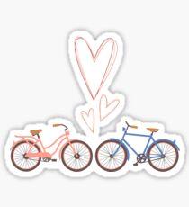 Bike lovers. White background. Sticker