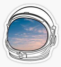 Blue Sky on the Moon on black  Sticker