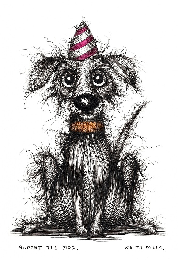 Rupert the dog by Keith Mills