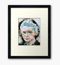 MARIE CURIE - watercolor portrait Framed Print