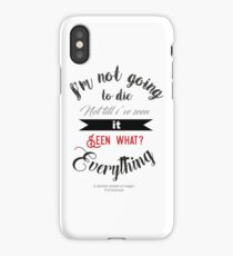 a darker shade of magic quote lila bard  iPhone Case