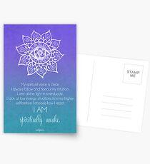 Third Eye Chakra Affirmation Postcards