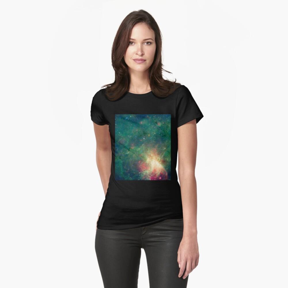 Abkürzung, Omega-Nebel, Weltraum, Astrophysik, Astronomie Tailliertes T-Shirt