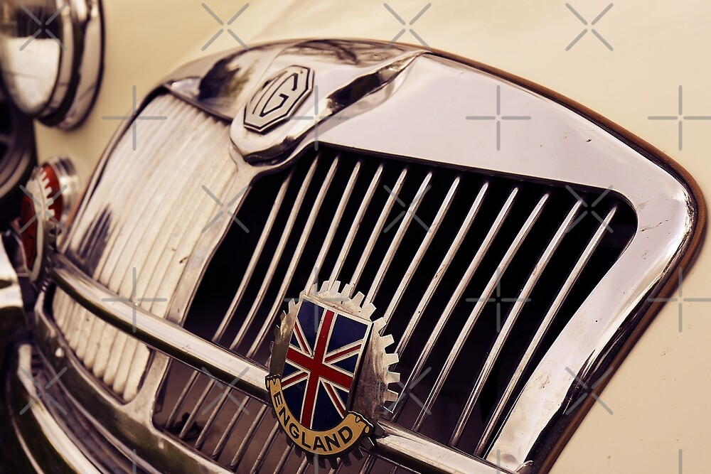 mg car, british flag by hottehue