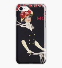 Unknown - James - The King Of Cycles & Motorcycles Poster. Woman portrait: sensual woman,  bicycle ,  bicycling ,  cycle,  cycling,  enjoy,  free time,  fun,  hobbies,  hobby,  holiday iPhone Case/Skin