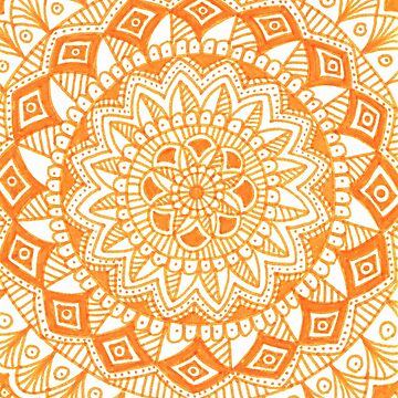 Orange mandala by Ambermariaalice